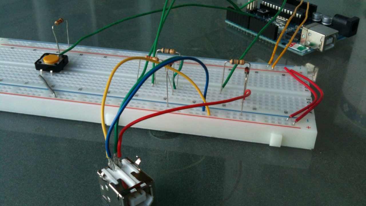 USB-Keyboard with Arduino and V-USB library, an example