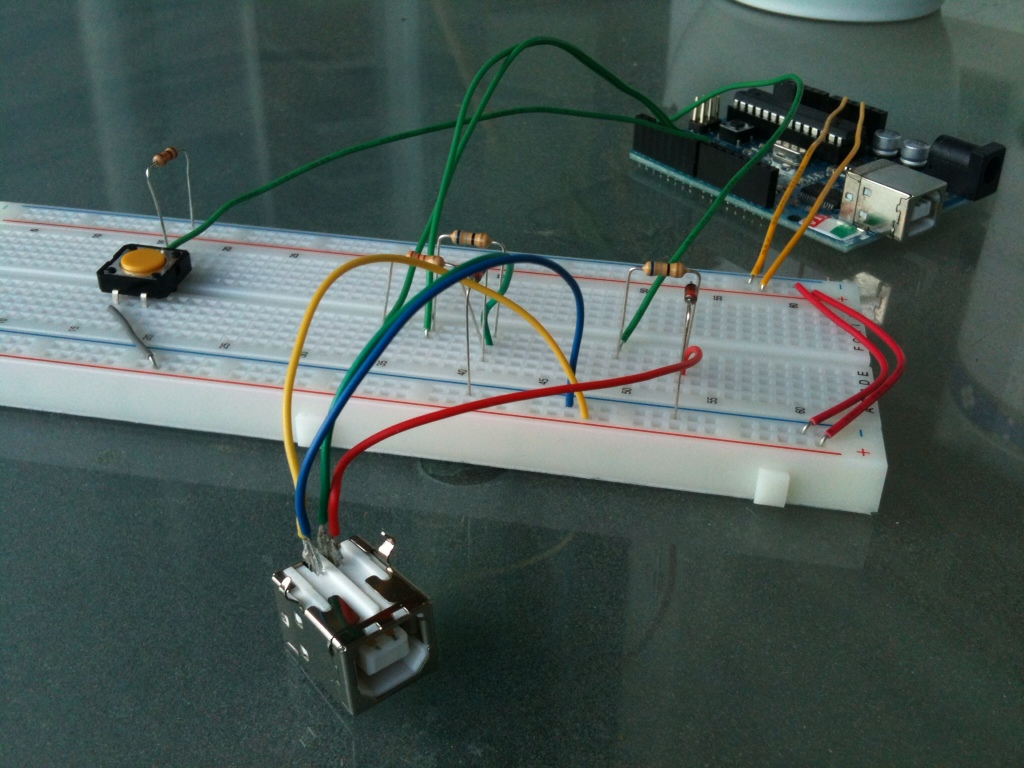 Usb keyboard with arduino and v library an example