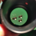 Magnified view on SOT23 MOSFETs.