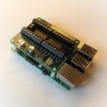 ControlBlock attached to a Raspberry Pi model B+ (Front View)