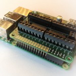 ControlBlock attached to a Raspberry Pi model B+ (Back View)