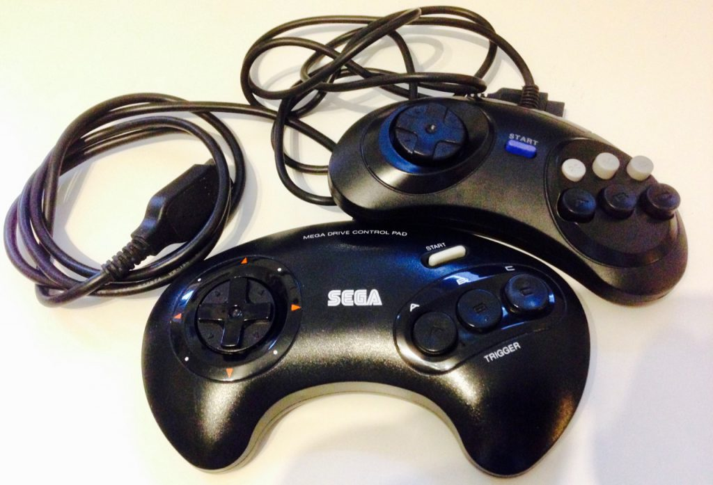 Sega Genesis / Megadrive (TM) Controllers are now supported by the ControlBlock