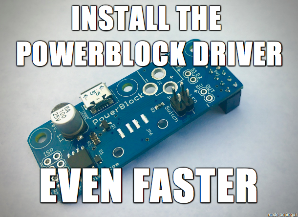 Quick Install Script for the PowerBlock