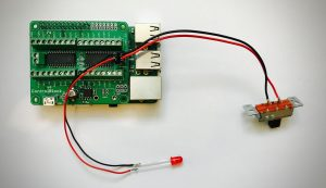 ControlBlock with attached Power Switch and Status LED