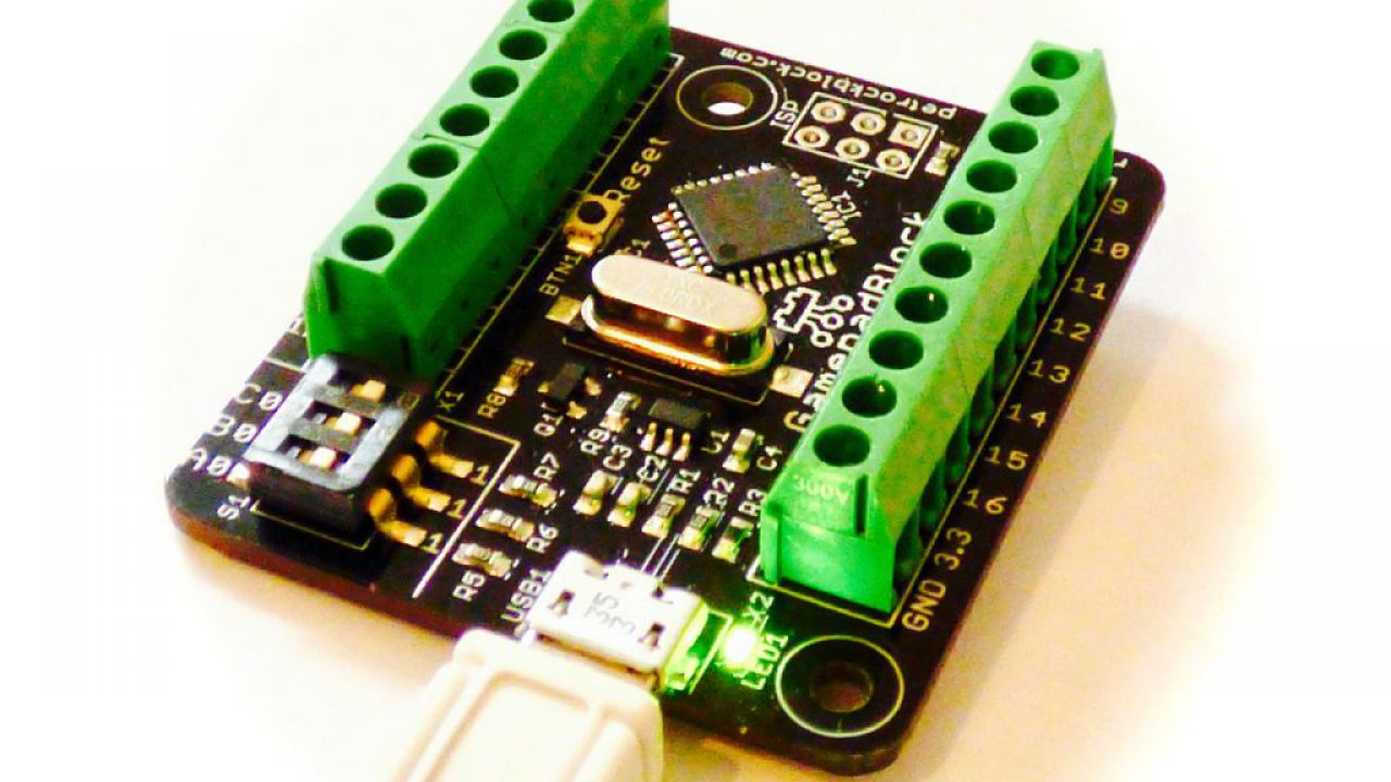 GamepadBlock - Arcade and Original Game Controller USB Interface