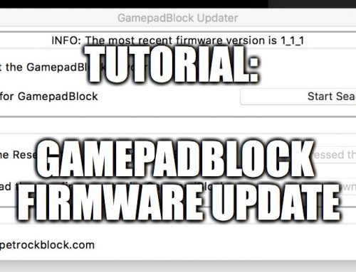 GamepadBlock Updater: Updating the firmware of the GamepadBlock