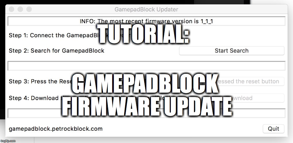 GamepadBlock Firmware Update