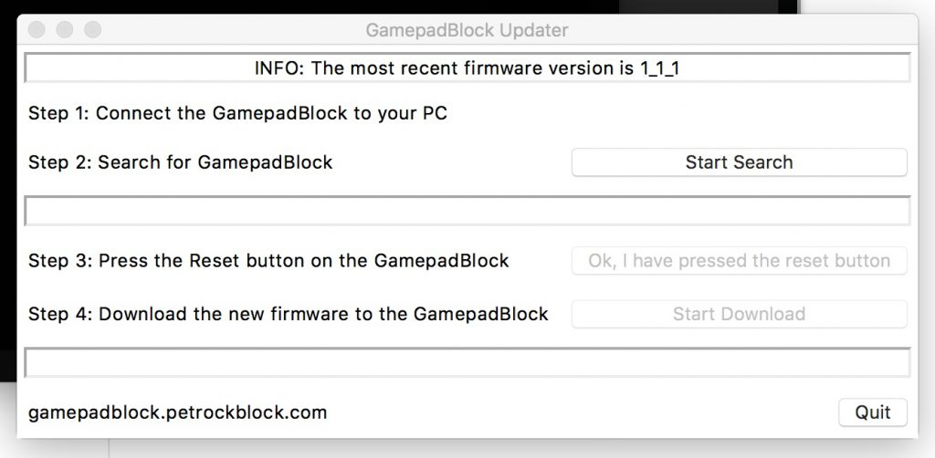 GamepadBlock Updater