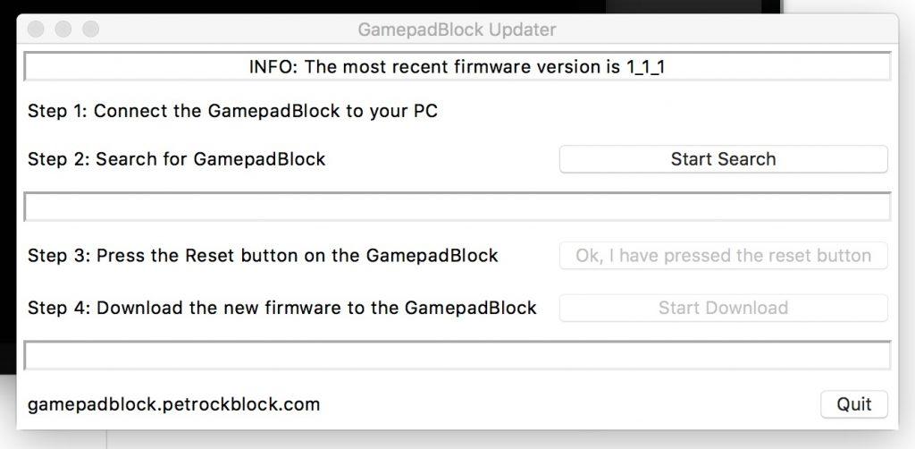 GamepadBlock Updater