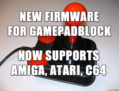 GamepadBlock: New Firmware V1.2.0 Now Supports Amiga, C64, and Equal Joysticks
