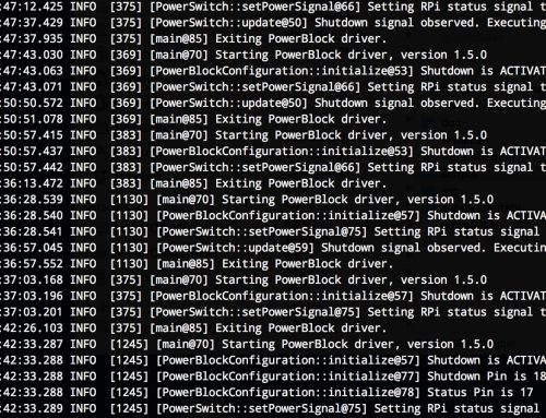 Update for PowerBlock Driver: Pin Configuration and Logging