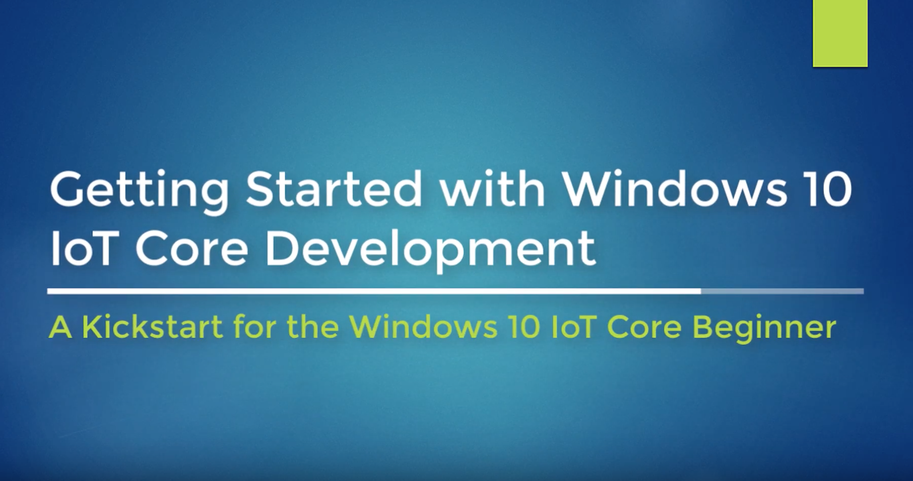 Getting Started with Windows 10 IoT Core Development