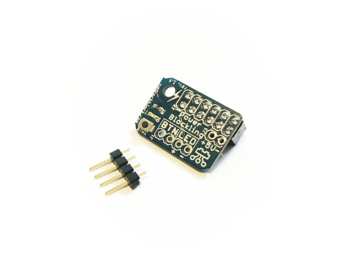 PowerBlockling comes with 1x4 male pin header